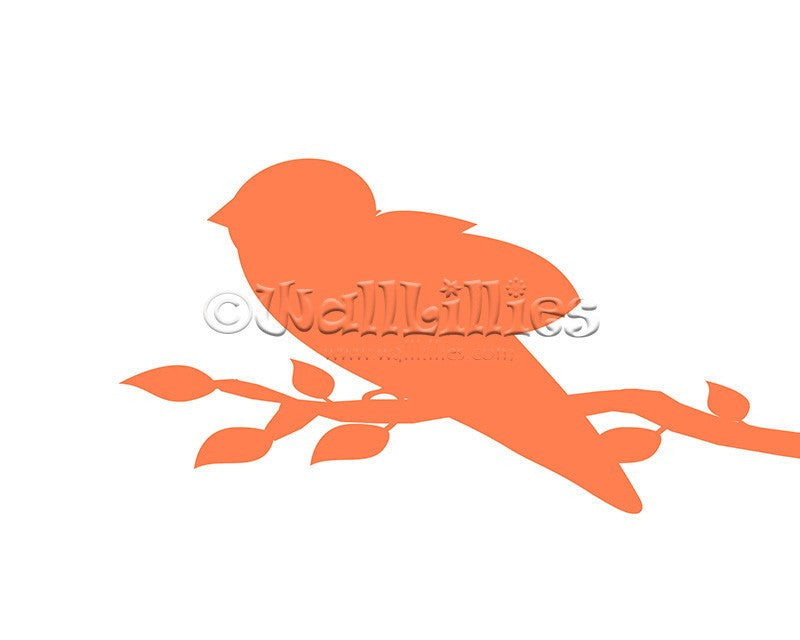 Bird on a Branch Decal - WallLillies