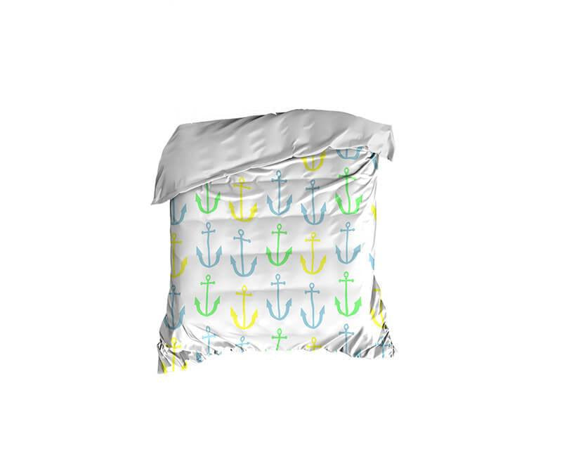 Anchor Pattern Crib Comforter - WallLillies