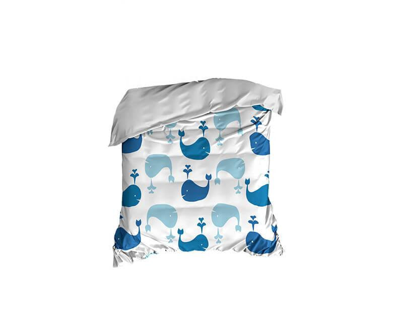 Whale Pattern Crib Comforter - WallLillies