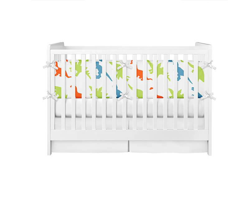 Dinosaur Pattern Crib Bumper - WallLillies