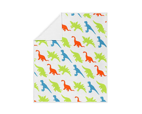 Dinosaur Pattern Fleece Blanket - WallLillies
