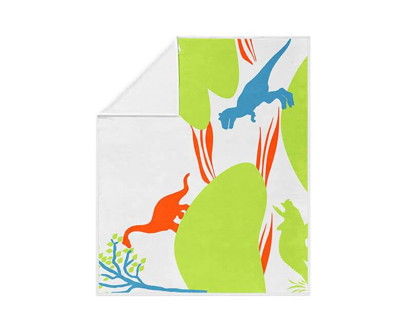 Dinoland Fleece Blanket - WallLillies