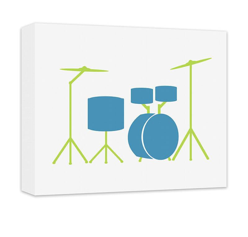 Drum Set Children's Canvas Wall Art - WallLillies