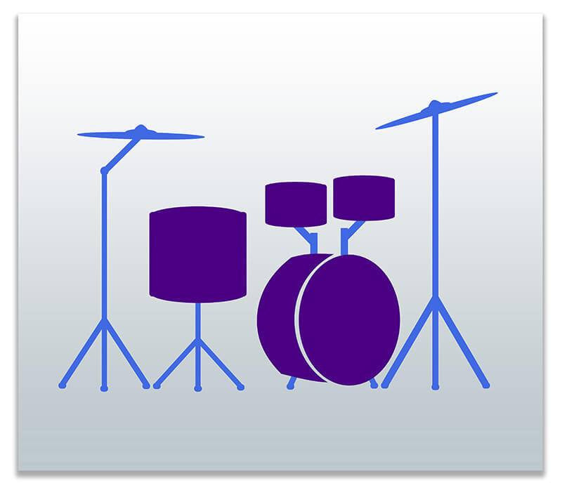 Drum Set Children's Print Wall Art - WallLillies