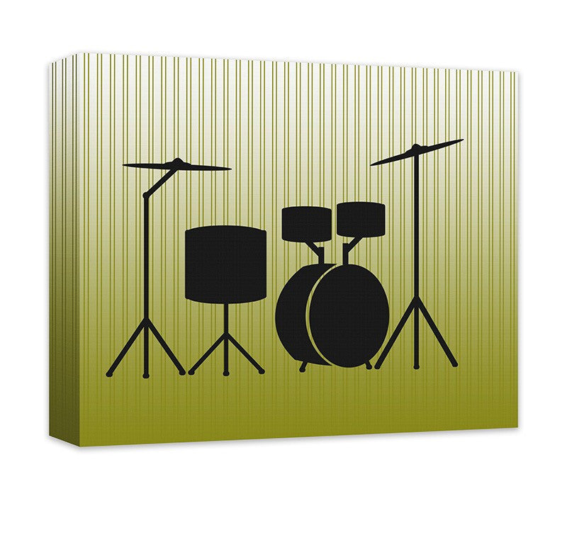 Acoustic Drums Canvas Wall Art – WallLillies