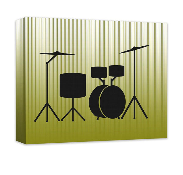 Acoustic Drums Canvas Wall Art - WallLillies