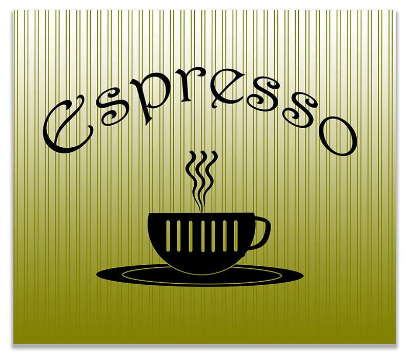 Espresso Cup Word Art Print Wall Art – WallLillies