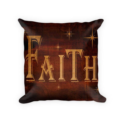 Faith I Woven Cotton Throw Pillow