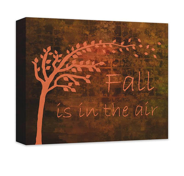 Fall is in the Air with Autumn Tree Canvas Wall Art