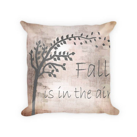 Fall is in the Air with Autumn Tree Woven Cotton Pillow