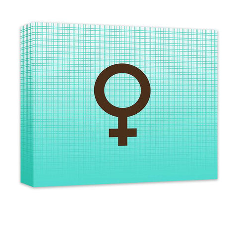 Female Symbol Canvas Wall Art