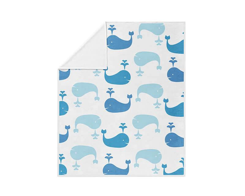 Whale Pattern Fleece Blanket - WallLillies
