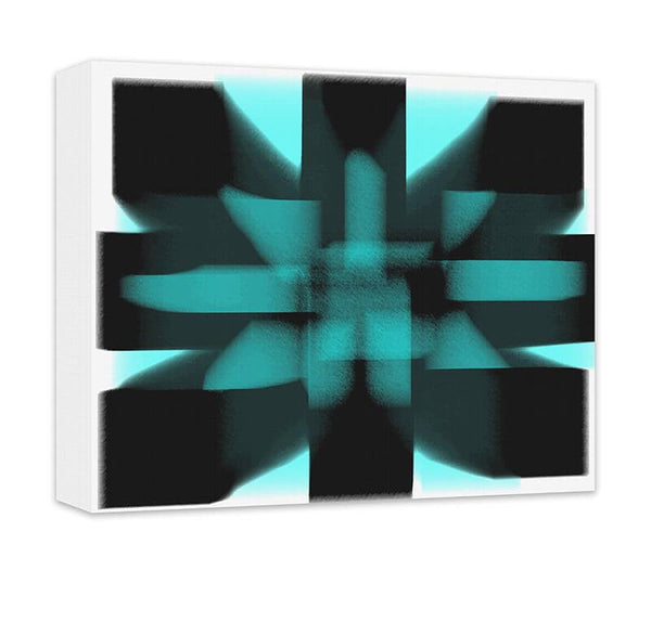 Geometric Energy Abstract I Canvas Wall Art - WallLillies