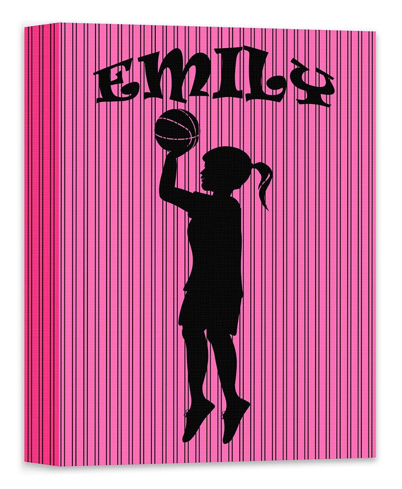 Girl Custom Silhouette I Canvas Wall Art - WallLillies