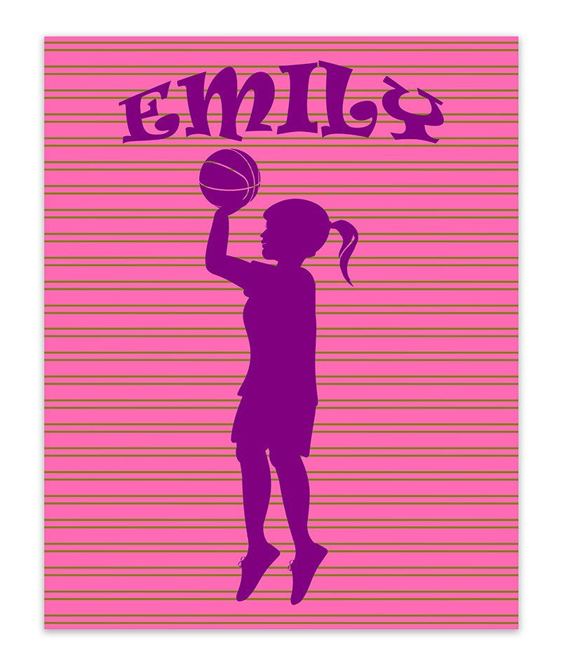 Girl Custom Silhouette I Print Wall Art - WallLillies