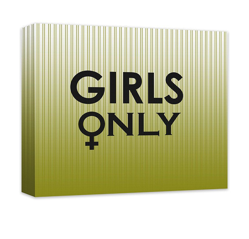 Girls Only with Female Symbol Canvas Wall Art – WallLillies