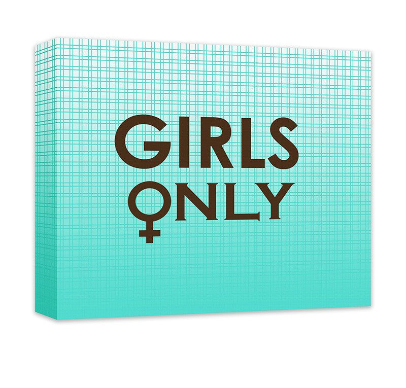 Girls Only with Female Symbol Canvas Wall Art - WallLillies