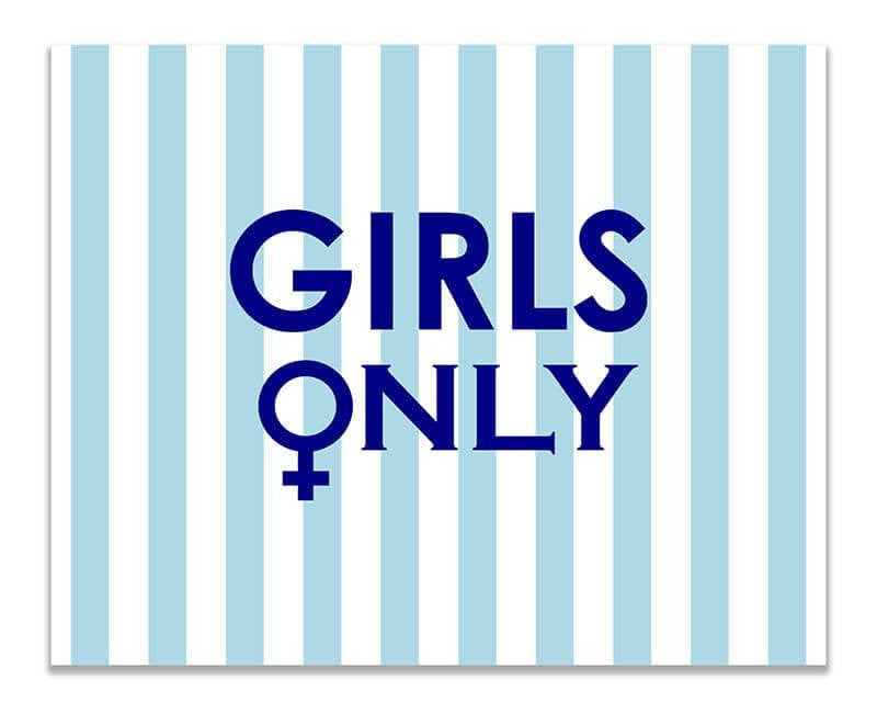 Girls Only with Female Symbol Print Wall Art - WallLillies