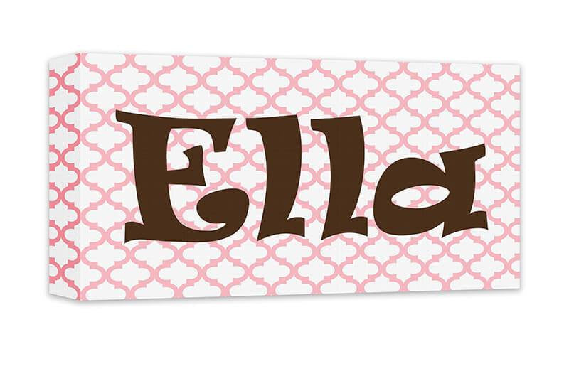 Girl Personalized Name Canvas Wall Art Panoramic - WallLillies