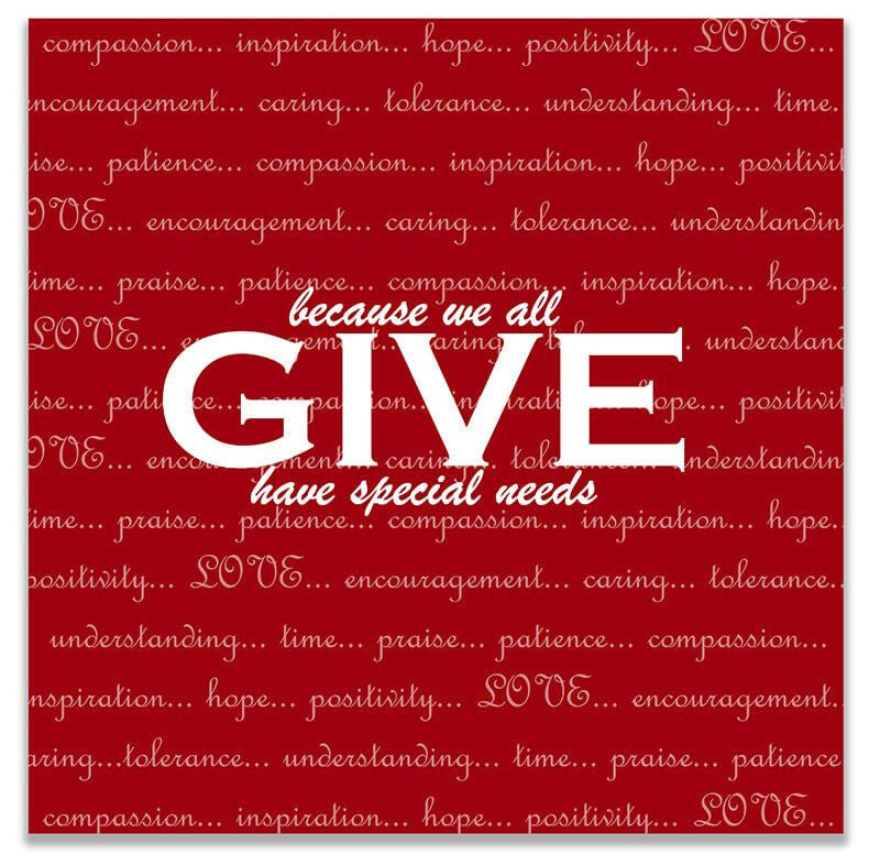 Give Love Print Wall Art - WallLillies