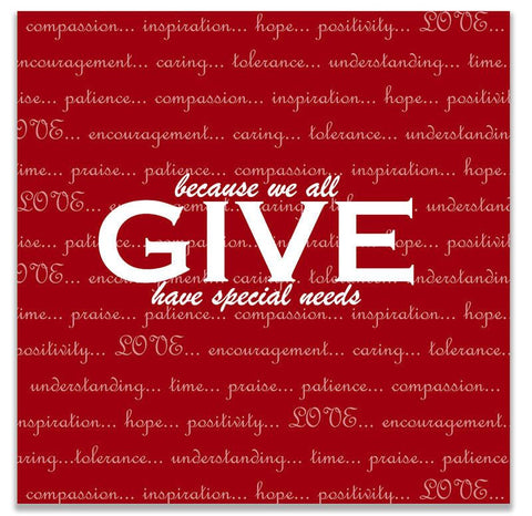 Give Love Print Wall Art