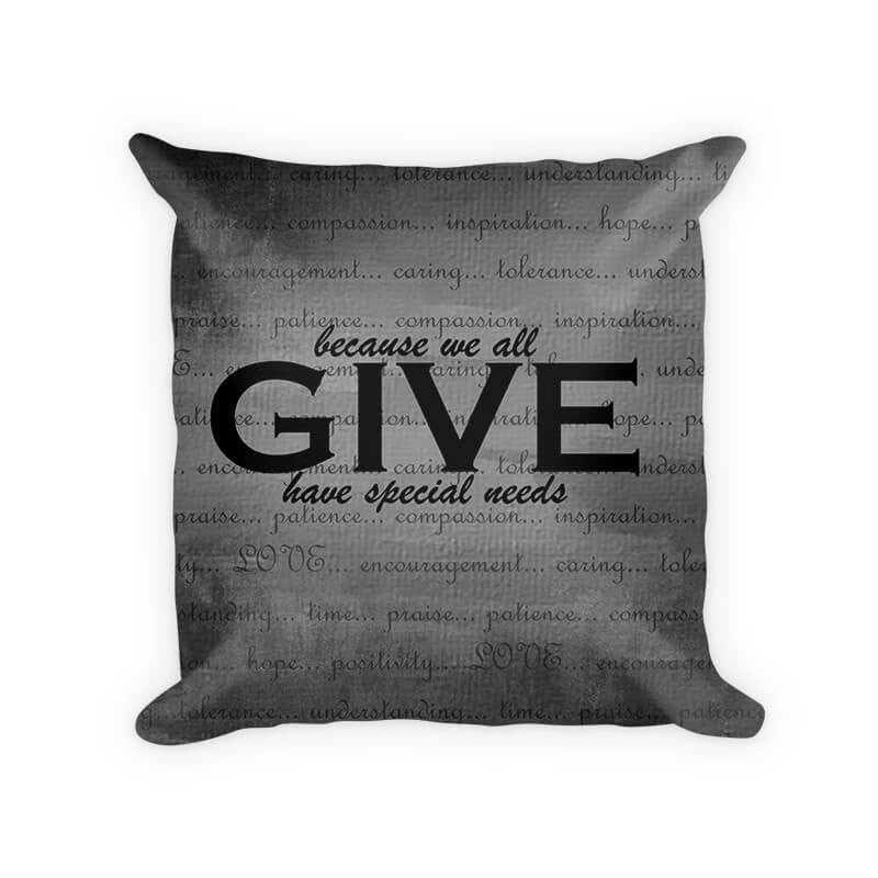 Give Love Woven Cotton Throw Pillow - WallLillies