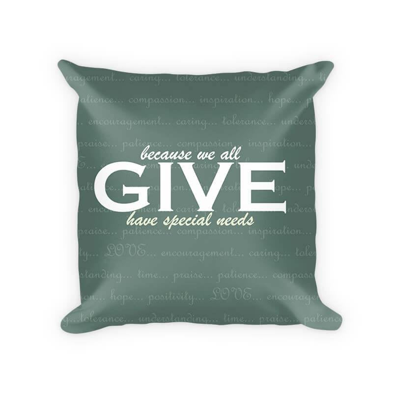 Give Love Cotton Poly Throw Pillow - WallLillies