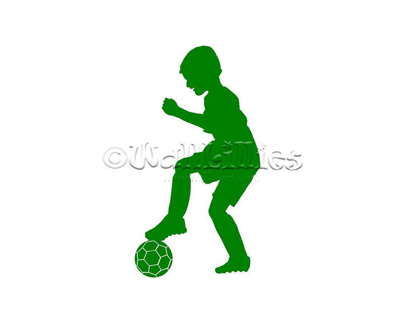 Boy Soccer Moves I Decal - WallLillies