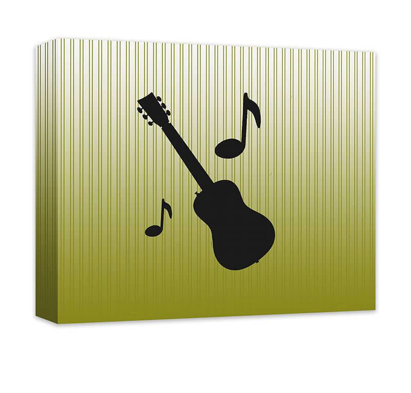 Guitar with Musical Notes Canvas Wall Art – WallLillies