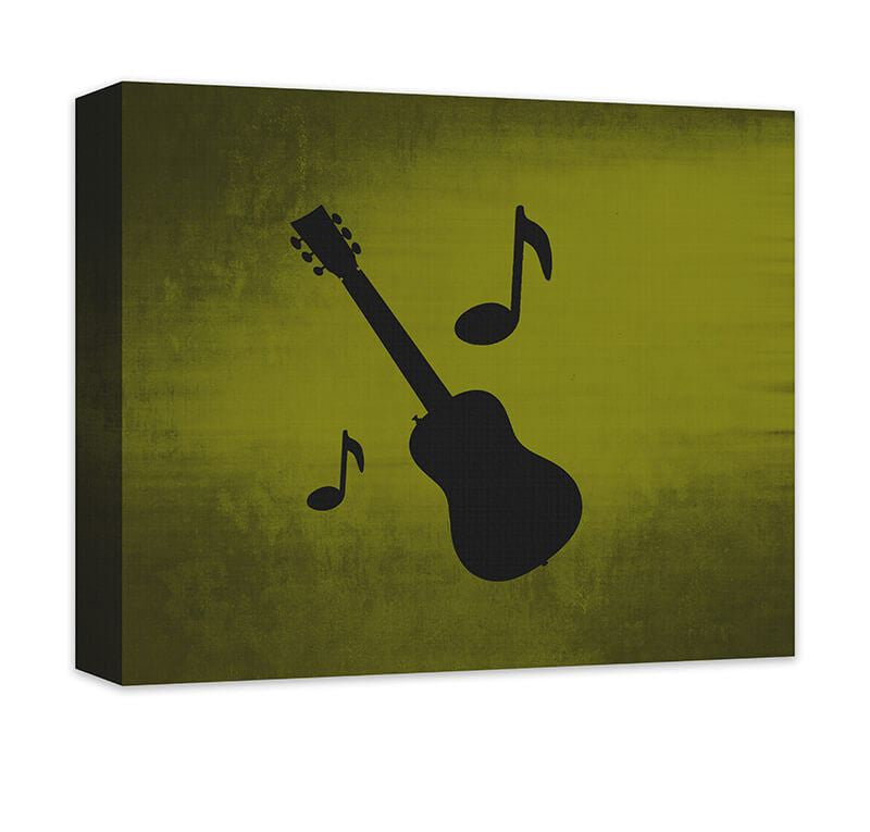 Guitar with Musical Notes Canvas Wall Art - WallLillies