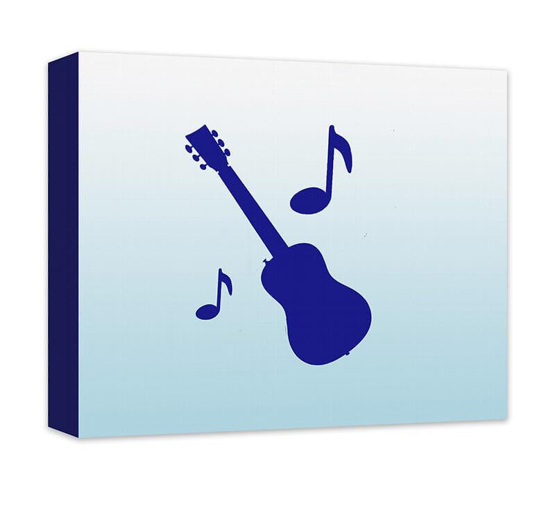 Guitar with Musical Notes Children's Canvas Wall Art - WallLillies