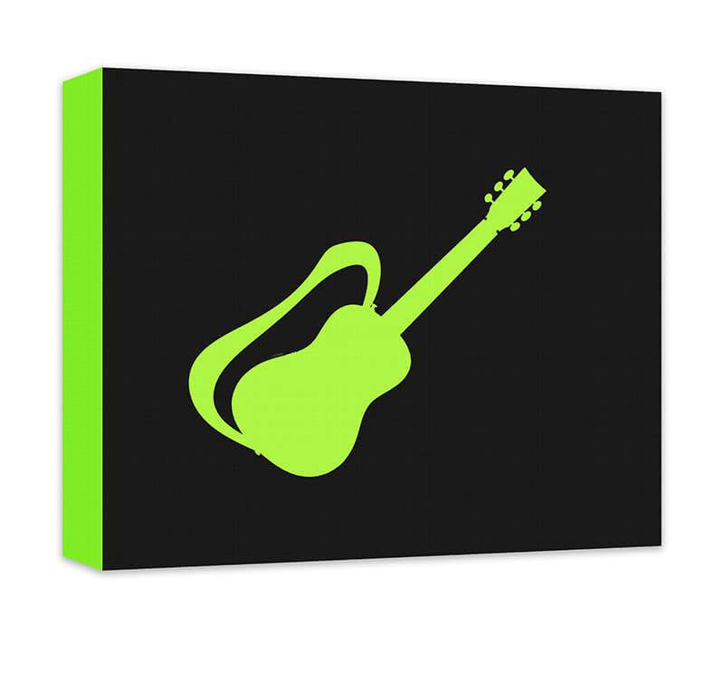 Guitar with Strap Children's Canvas Wall Art - WallLillies