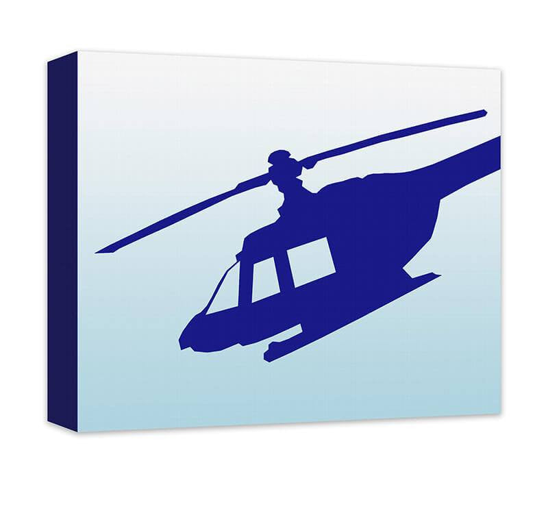 Helicopter Children's Canvas Wall Art - WallLillies