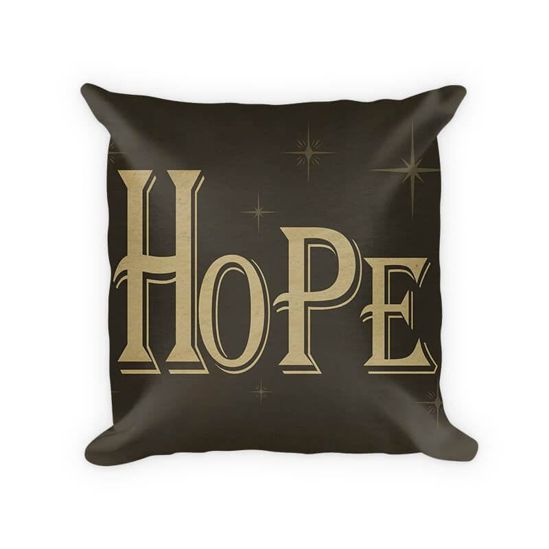 Hope I Woven Cotton Throw Pillow - WallLillies