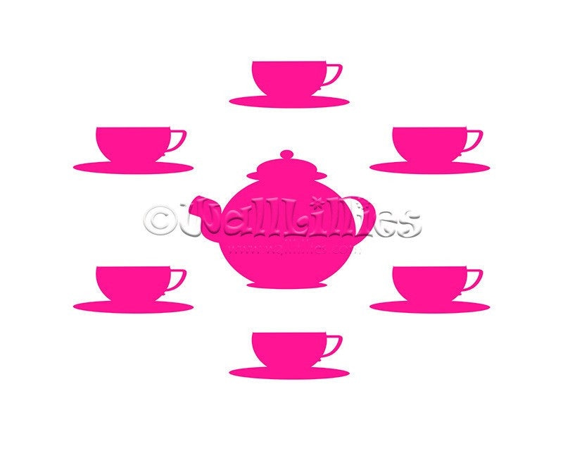 Tea Set Decal