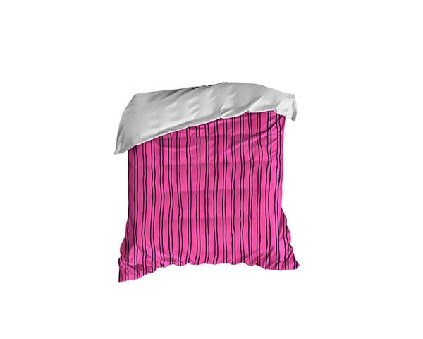 Hot Pink and Black Stripes Crib Comforter - WallLillies