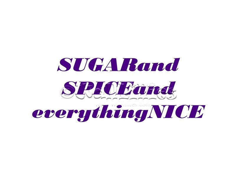 Sugar and Spice I Decal