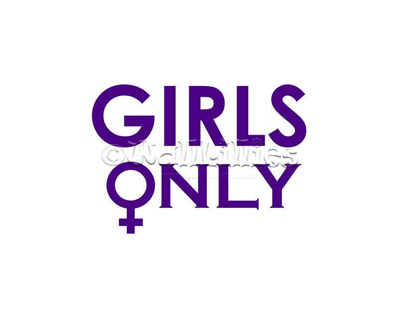 Girls Only with Female Symbol Decal - WallLillies