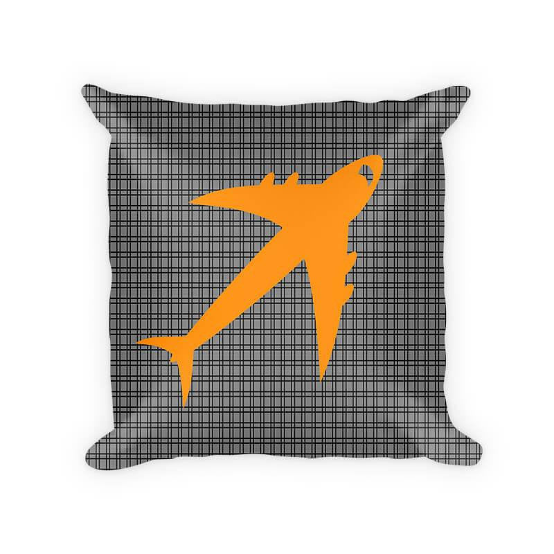 Jet Airplane Children's Cotton/Poly Throw Pillow - WallLillies