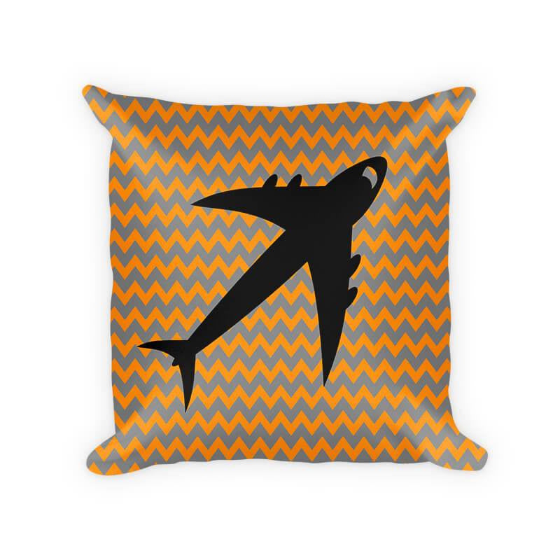 Jet Airplane Children's Woven Cotton Throw Pillow - WallLillies
