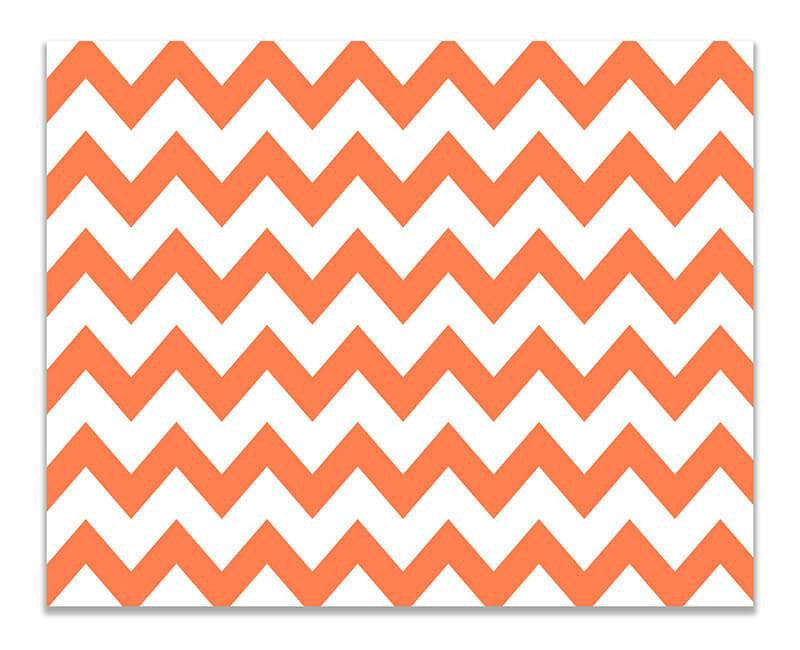 Chevron Large Pattern Print Wall Art - WallLillies