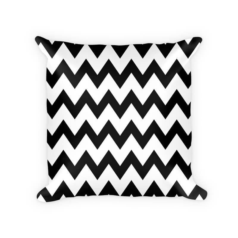 Chevron Large Pattern Woven Cotton Throw Pillow - WallLillies
