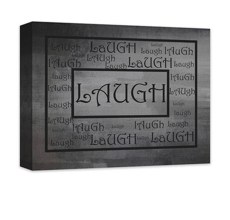 Laugh Word Art Word Collage I Canvas Wall Art - WallLillies