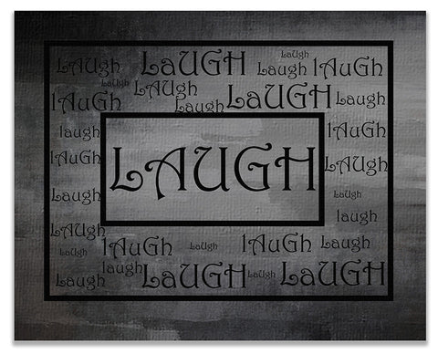 Laugh Word Art Word Collage I Print Wall Art
