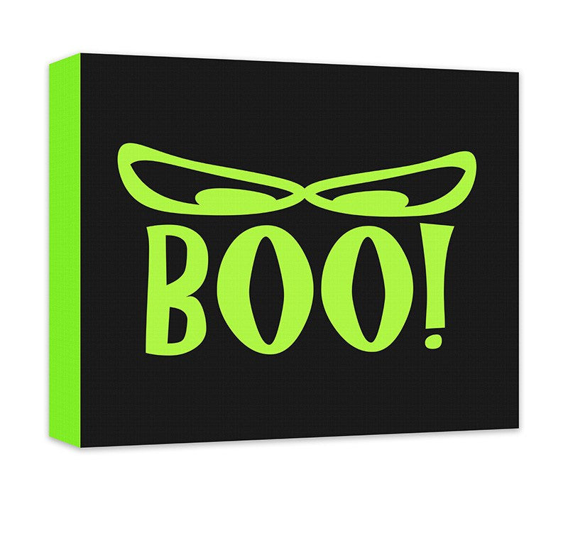 Boo! with Spooky Eyes Canvas Wall Art - WallLillies