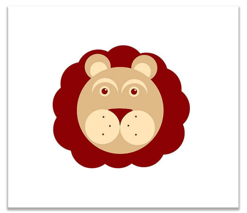 Lion Children's Print Wall Art - WallLillies