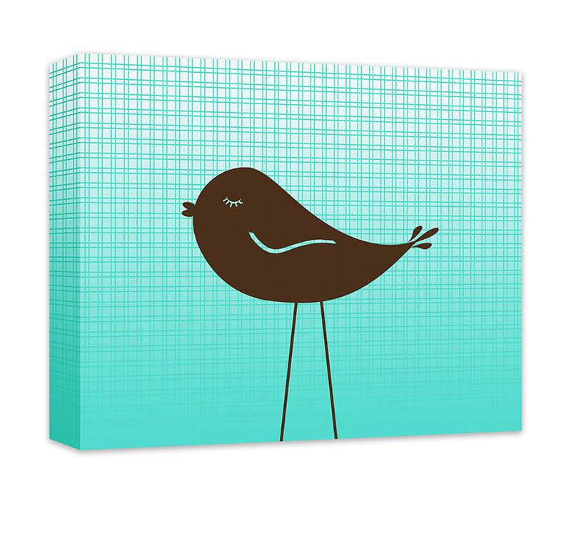 Little Birdie II Children's Canvas Wall Art - WallLillies