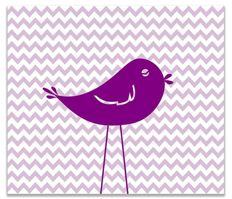 Little Birdie I Children's Print Wall Art - WallLillies