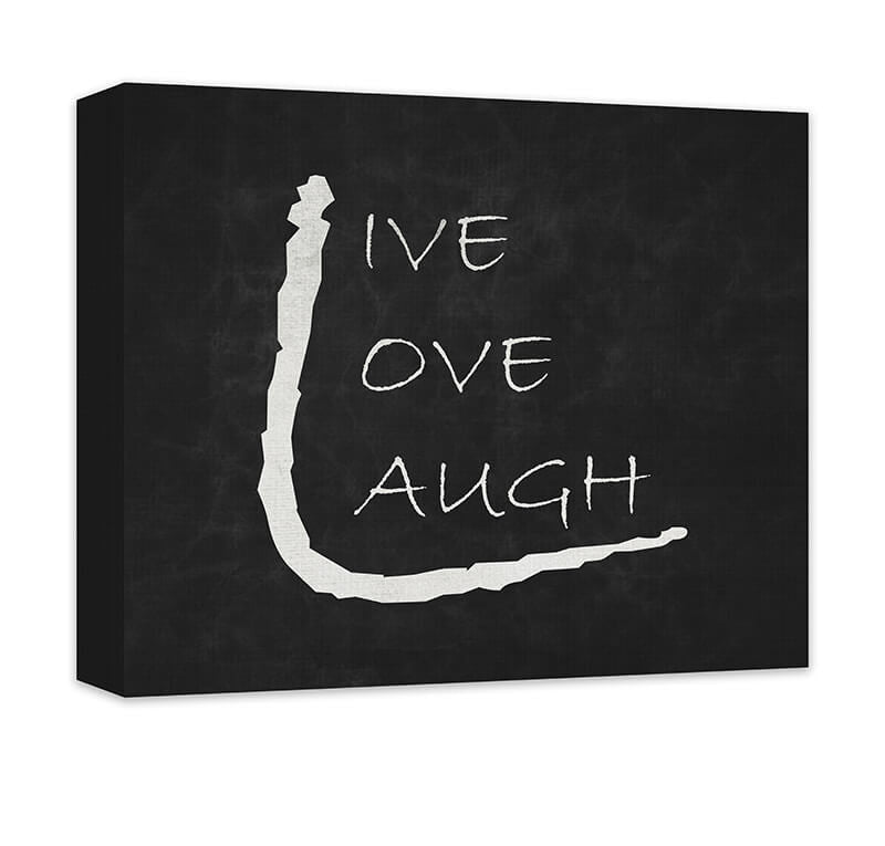 Live Love Laugh III Canvas Wall Art - WallLillies