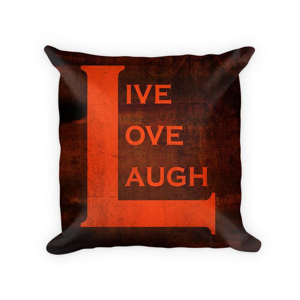 Live Love Laugh II Woven Cotton Throw Pillow - WallLillies